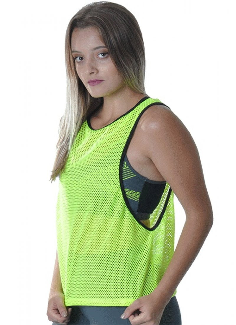 Camiseta Tela Fitness verde Red Sports Dry Fit