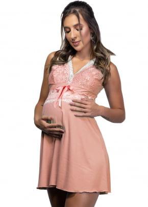 Camisola Maternidade  Gestante  Alças Em Renda