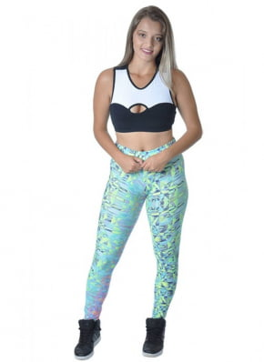 Legging Verde Estampado